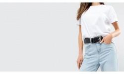 <Какой выбрать ремень к женским джинсам?