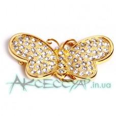 Пряжка женская для ремня бабочка 432