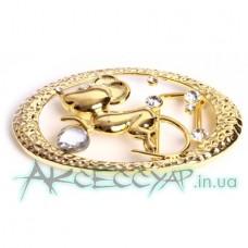 Пряжка женская для ремня мышь с бриллиантом 72