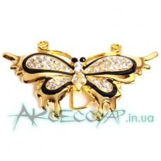Пряжка женская для ремня бабочка 486
