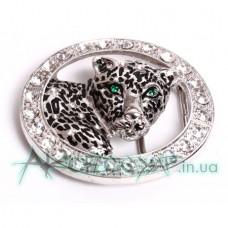 Пряжка женская для ремня леопард 558