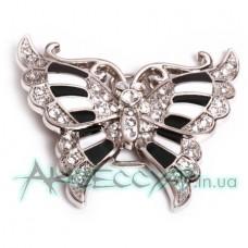 Пряжка женская для ремня бабочка 543