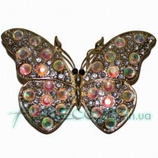Пряжка бабочка в камнях