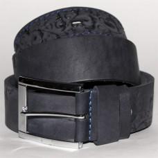 Джинсовый кожаный ремень uno blue №2