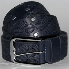 Джинсовый кожаный ремень uno blue №6