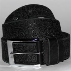 Джинсовый кожаный ремень uno black №8