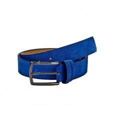 Кожаный ремень 6040 Синий