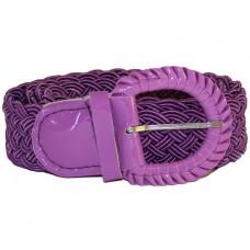 Ремень-плетенка Rococo узкий фиолетовый