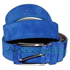 Замшевый ремень Alaska 35 синий
