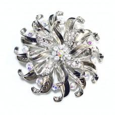 Пряжка для ремня женская цветок с каплями 385
