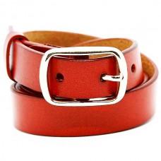 Женский ремень 5608 Кожаный Красный