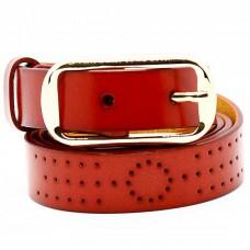 Женский ремень 5624 Кожаный Красный