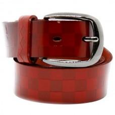 Женский ремень 5655 Кожаный Красный